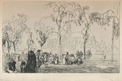 Notre Dame Viewed from the Quai Montebello, 1915-Auguste Lepere-Giclee Print