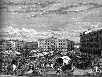 Nottingham Market Place, C1880--Giclee Print