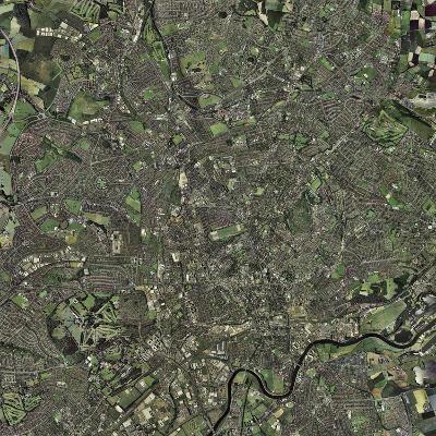 Nottingham, UK, Aerial Image-Getmapping Plc-Photographic Print
