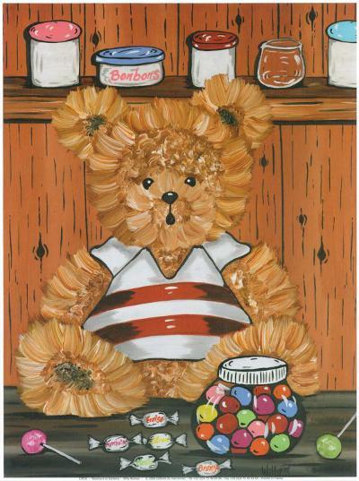 Nounours Et Bonbons-Willy Renoux-Art Print