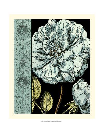 Nouveau Floral in Blue III-Vision Studio-Art Print