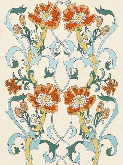 Nouveau Floral Pattern I-Naomi McCavitt-Art Print