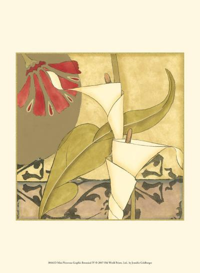 Nouveau Graphic Botanical IV-Jennifer Goldberger-Art Print