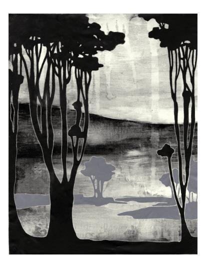 Nouveau Landscape II-Jennifer Goldberger-Art Print