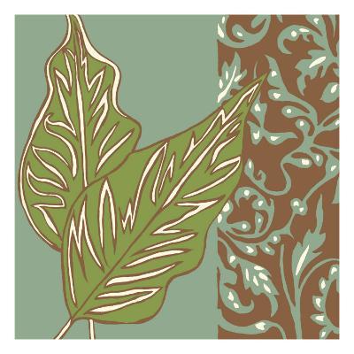 Nouveau Leaves I-Chariklia Zarris-Art Print
