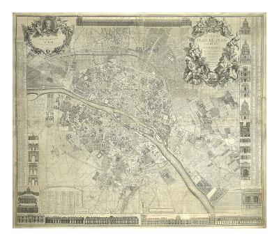 Nouveau Plan De Paris 1728-J^ Delagrive-Premium Giclee Print