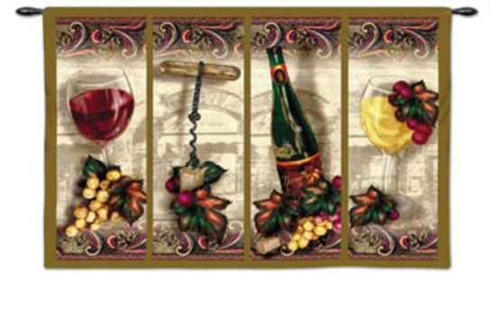 Nouveau Wine-Alma Lee-Wall Tapestry