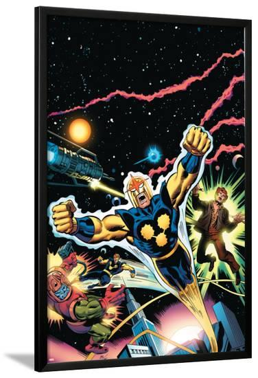 Nova: Origin Of Richard Rider Cover: Nova--Lamina Framed Poster