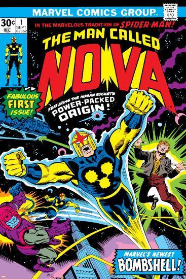 Nova: Origin Of Richard Rider - The Man Called Nova No.1 Cover: Nova-John Buscema-Art Print