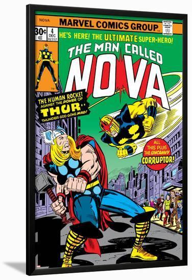 Nova: Origin Of Richard Rider - The Man Called Nova No.4 Cover: Nova and Thor-Sal Buscema-Lamina Framed Poster