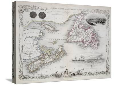 Nova Scotia And Newfoundland Series Of World Maps C 1850