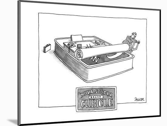 NOVA SCOTIA BRAND CUBICLE - New Yorker Cartoon-Jack Ziegler-Mounted Premium Giclee Print