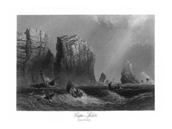 Nova Scotia, Canada, Bay of Fundy View of Cape Split-Lantern Press-Art Print