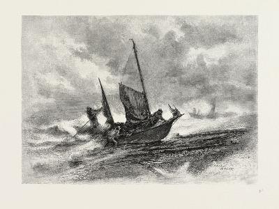 Nova Scotia, Fishermen Landing in a Gale, Canada, Nineteenth Century--Giclee Print