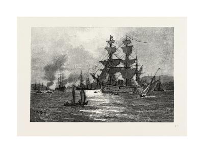 Nova Scotia, Men-Of-War, Halifax Harbour, Canada, Nineteenth Century--Giclee Print