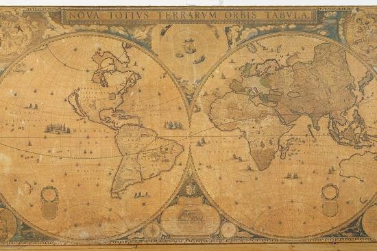 Blaeu World Map.Nova Totius Terrarum Orbis Tabula World Map C 1655 58 Giclee