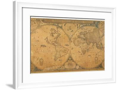 'Nova Totius Terrarum Orbis Tabula' (World Map) C.1655-58-Joan Blaeu-Framed Giclee Print