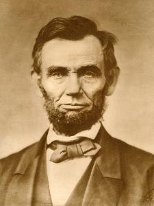 November 1863 Photograph Portrait of Abraham Lincoln