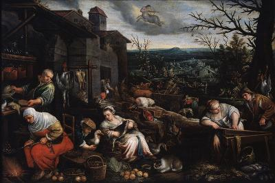 November' (From the Series 'The Seasons), Late 16th or Early 17th Century-Leandro Bassano-Giclee Print