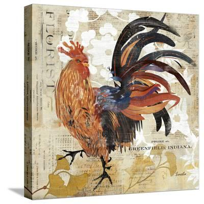 November Rooster--Stretched Canvas Print