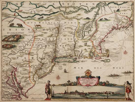 Novi Belgi Novaeque Angliae [New Netherland and New England], 1682-Nicolaes the Younger Visscher-Giclee Print