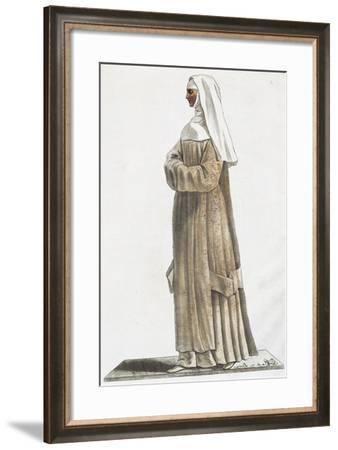 Novice before Taking Vows, Illustration of Memoirs of Nun by Denis Diderot--Framed Giclee Print