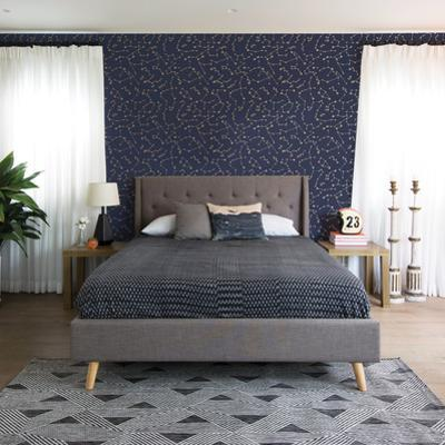Constellations Navy Self-Adhesive Wallpaper by Novogratz