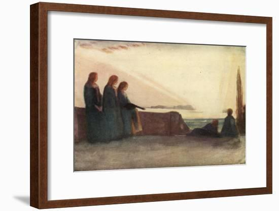 Now Fades the Glimmering Landscape on the Night, and All the Air a Solemn Stillness Holds-Robert Anning Bell-Framed Giclee Print
