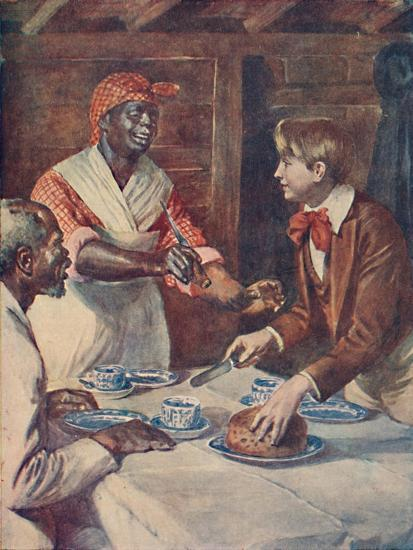 Now for the cake, said Mas'r George', 1929-Unknown-Giclee Print