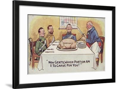 Now Gents, Which Portion--Framed Giclee Print