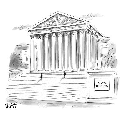 """Now Hiring"" - New Yorker Cartoon-Christopher Weyant-Premium Giclee Print"
