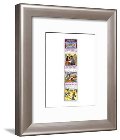 Now Playing at the Europlex - New Yorker Cartoon-Roz Chast-Framed Premium Giclee Print