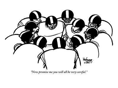 """""""Now promise me you will all be very careful."""" - New Yorker Cartoon-Kaamran Hafeez-Premium Giclee Print"""