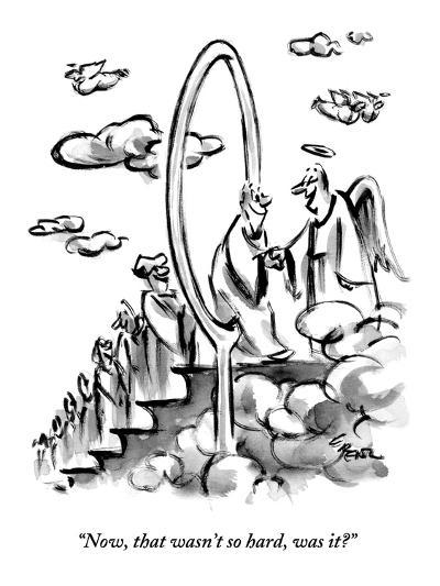 """Now, that wasn't so hard, was it?""  - New Yorker Cartoon-Lee Lorenz-Premium Giclee Print"
