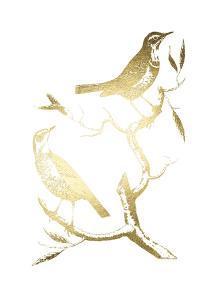 Gold Foil Birds I by Nozeman