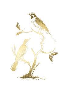 Gold Foil Birds II by Nozeman