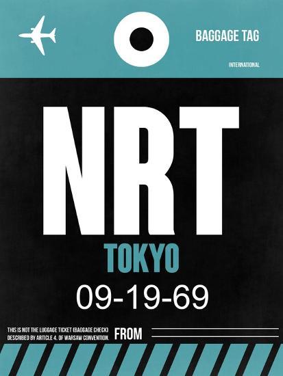 NRT Tokyo Luggage Tag 2-NaxArt-Art Print