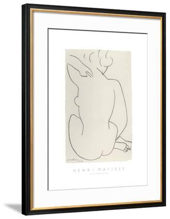Nu Accroupi de Dos-Henri Matisse-Framed Art Print