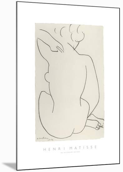 Nu Accroupi de Dos-Henri Matisse-Mounted Art Print