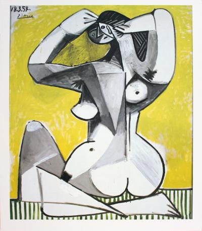 Nu Accroupi-Pablo Picasso-Collectable Print