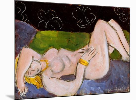 Nu Allonge-Henri Matisse-Mounted Art Print
