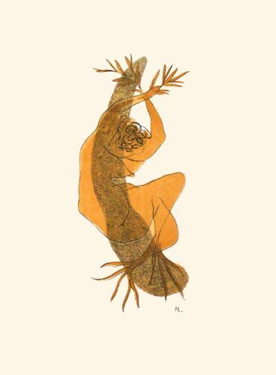 Nu au Rameau Dolivier-Henri Laurens-Collectable Print