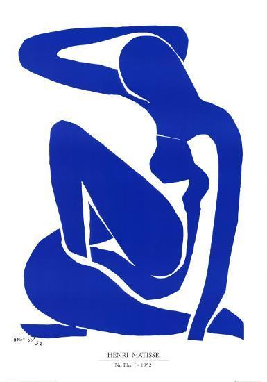 Nu Bleu I, c.1952-Henri Matisse-Art Print