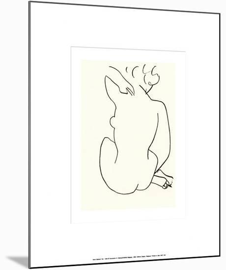 Nu, c.1949-Henri Matisse-Mounted Serigraph
