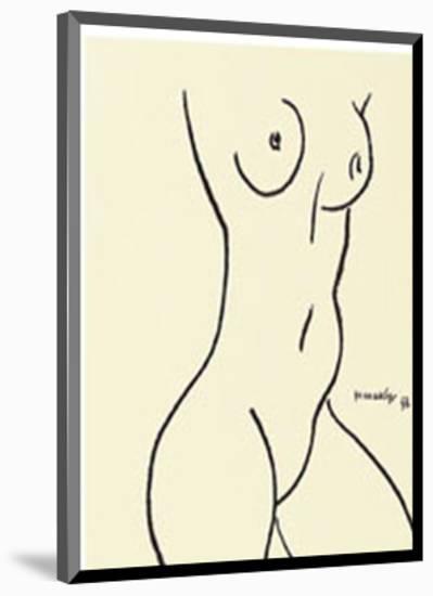 Nu, c.1952-Henri Matisse-Mounted Serigraph