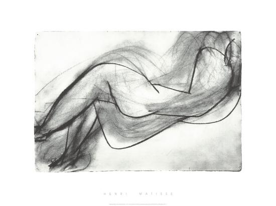 Nu Couche de Dos, c.1944-Henri Matisse-Serigraph