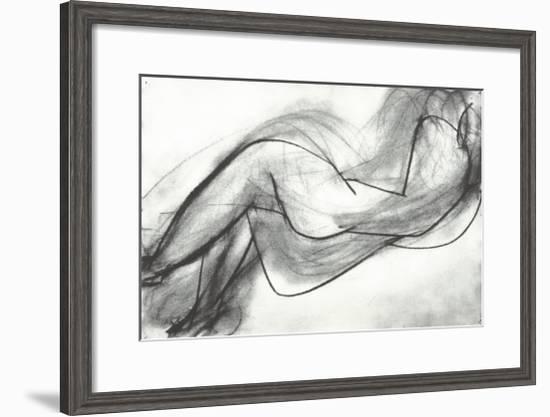 Nu Couche de Dos, c.1944-Henri Matisse-Framed Serigraph