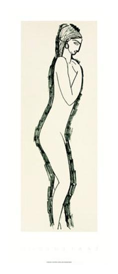 Nu de Profile-Amedeo Modigliani-Serigraph