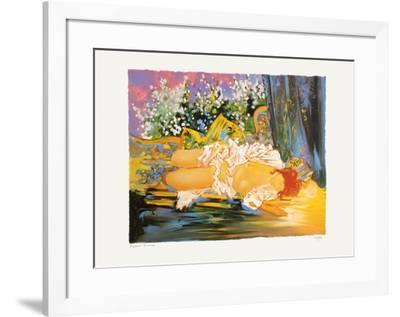 Nu endormi-Georges Hosotte-Framed Premium Edition
