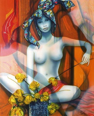 Nu ? la rose jaune-Jean-Baptiste Valadie-Premium Edition